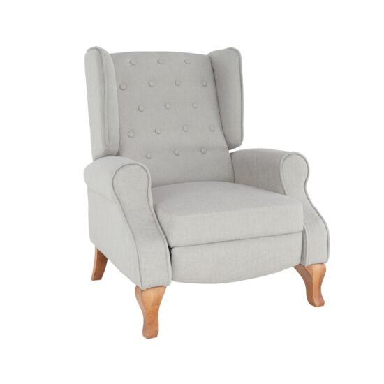 ARMIN Pozícionáló fotel bézs/anyag/fa,  Pozícionáló fotel bézs/anyag/fa