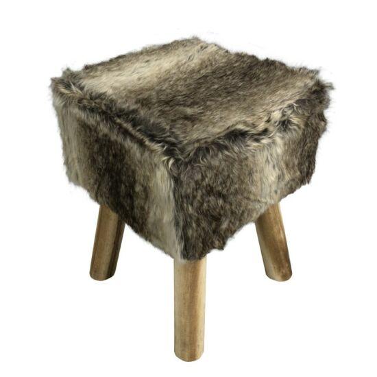 NAFULA Szőrmés ülőke,  barna