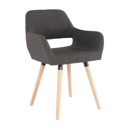GODRIC Dizájn fotel,  sötétbarna/bükk