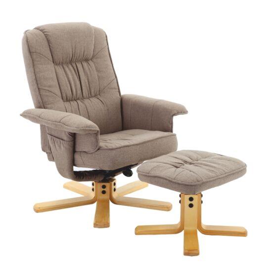 LERATO Relax fotel + lábtámasz,  barnásszürke