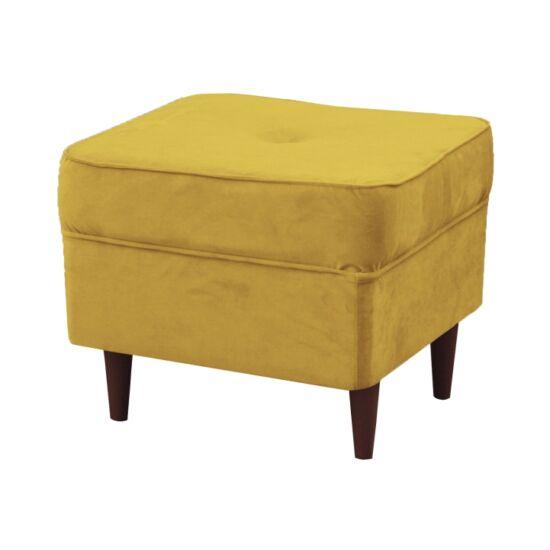 RUFINO Puff elegáns stílusban,  18 sárga + wenge lábak