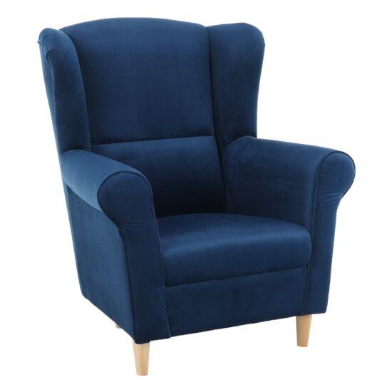 CHARLOT Füles fotel,  szövet kék