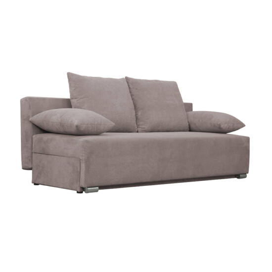 FERIHA Kinyitható kanapé,  szövet szürke-barna taupe