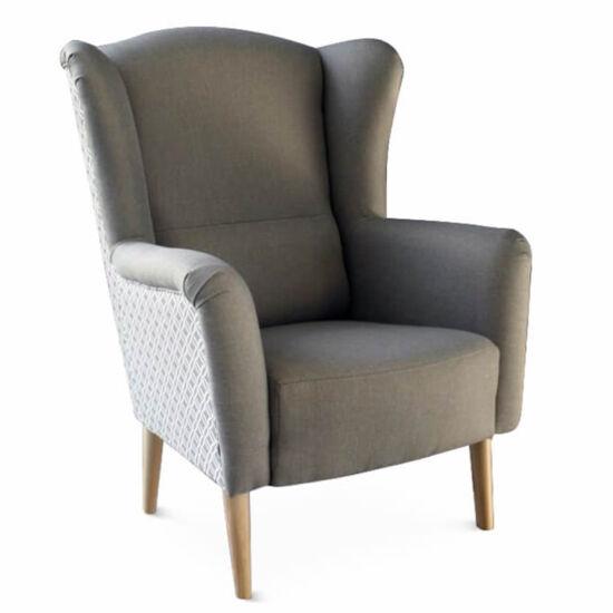 BELEK Dizájnos fotel - szövet,  capuccino/minta