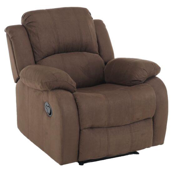 ASKOY Állítható relaxáló fotel,  barna szövet