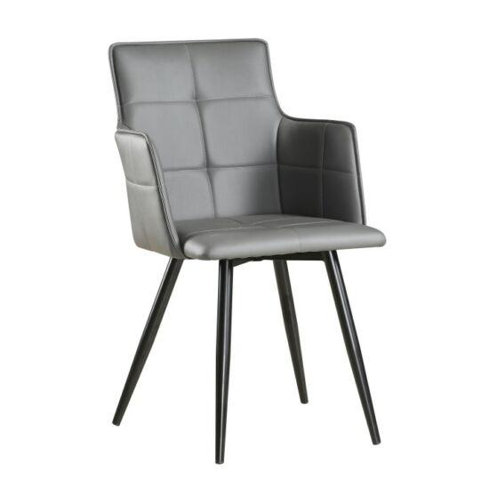 KOMBO Dizájnos fotel,  szürke TAUPE/fekete