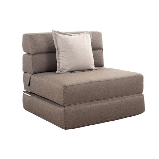 ZAFIR Kinyitható fotel,  barna