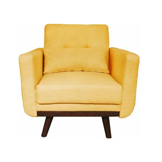 ARKADIA kinyitható fotel,  mustár