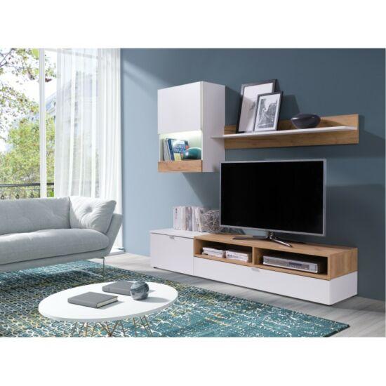 ROSO Nappali bútor,  fehér/tölgy arany