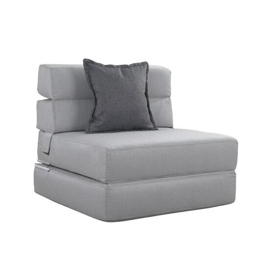 ZAFIR Kinyitható fotel,  szürke