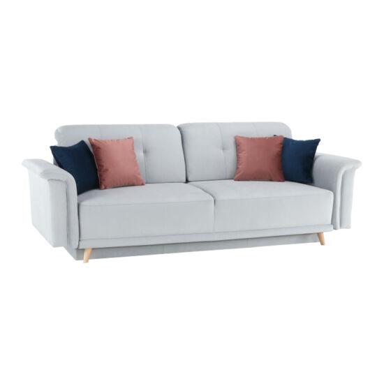 ARIANA kanapé,  világosszürke/rózsaszín/sötétkék