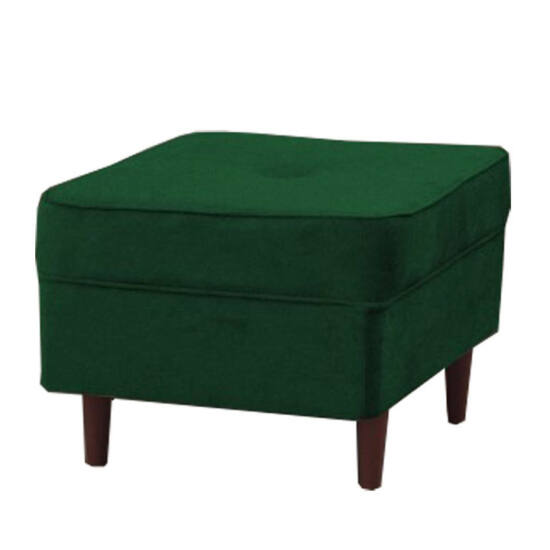 RUFINO Modern puff,  zöld/dió