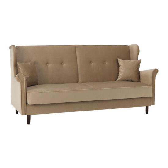 COLUMBUS Kinyitható kanapé,  bézs-arany szövet
