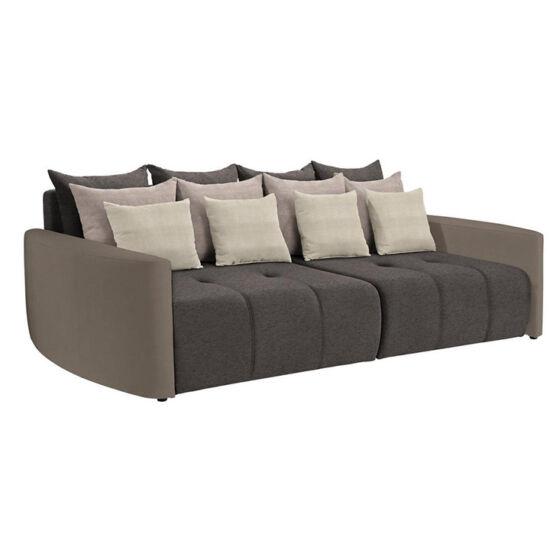 PORTO Tágas kanapé,  taupe szürke-barna/világosbarna/krém [BIG SOFA]