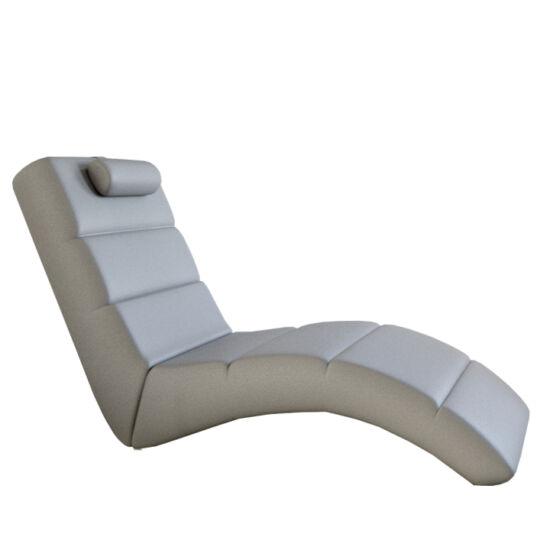 LONG Relax fotel,  fehér öko bőr