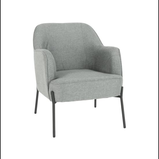 MATIR Dizájnos fotel,  szürke/fekete