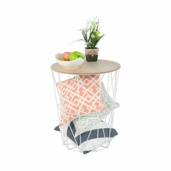 NANCER kisasztal,  természetes/fehér [TYP 3]