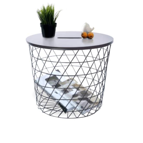 BATIS kisasztal,  grafit/fekete [TYP 1]
