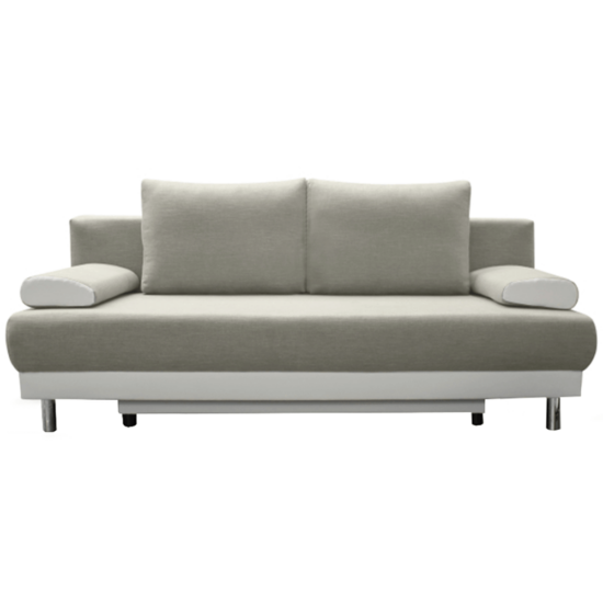 FERDI kinyitható kanapé,  világosszürke/fehér