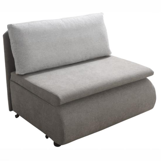 KENET Kinyitható fotel,  szürke-barna Taupe