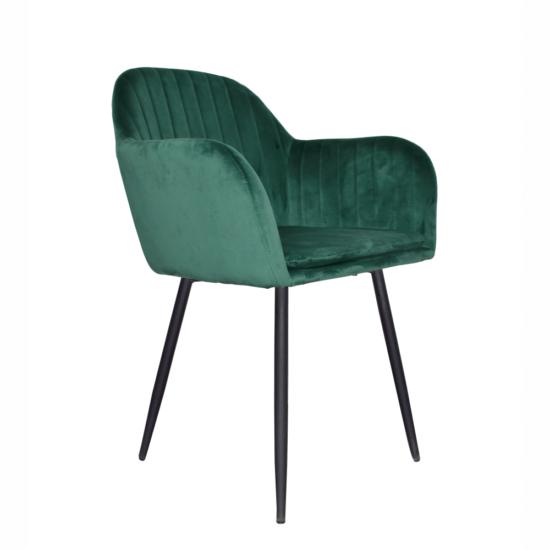 ZIRKON Dizájnos fotel,  smaragd Velvet anyag