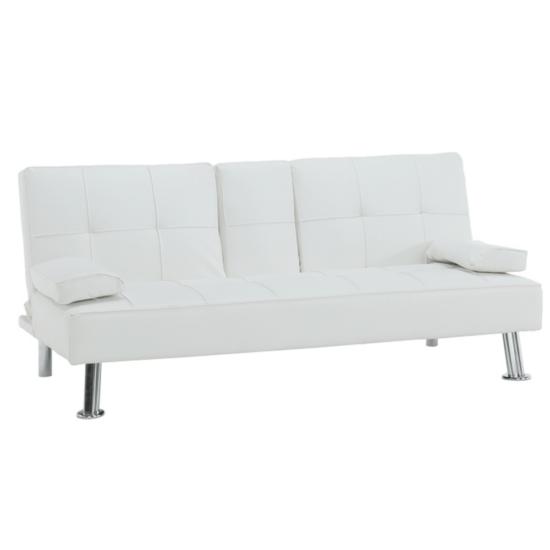 GOLDIA kinyitható kanapé,  bézs textilbőr [NEW]
