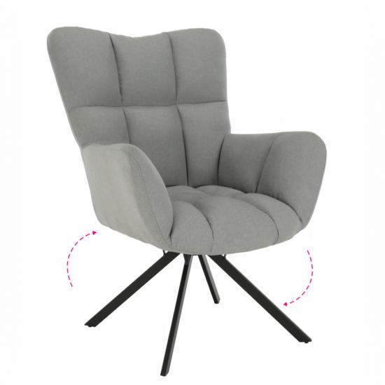 KOMODO Dizájnos pörgő fotel,  szürke/fekete