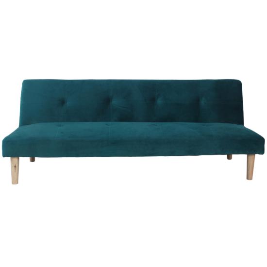 ALIDA kanapé széthúzhatós, smaragd/tölgy