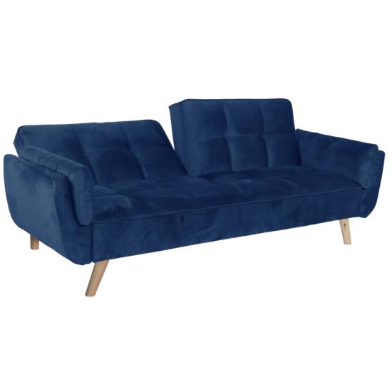 FILEMA Széthúzhatós kanapé,  királykék/tölgy