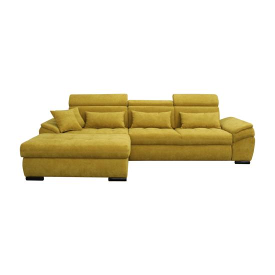 NATIK Ülőgarnitúra - mustárszínű,  balos kivitel [NEW]