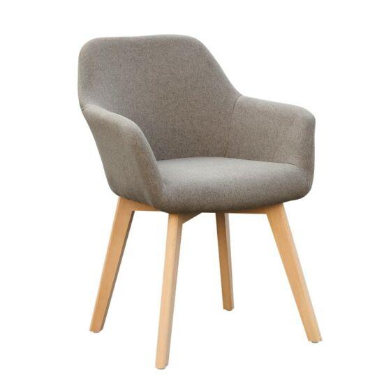 CLORIN Dizájnos fotel,  barna/bükk [NEW]