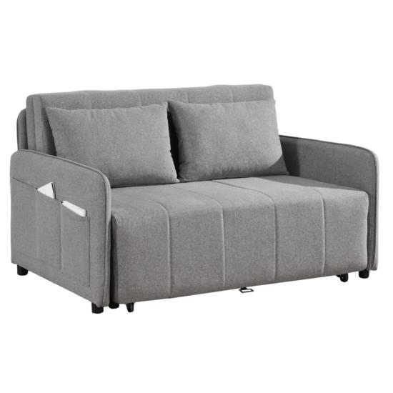 NIKARA kanapé széthúzhatós, világosszürke