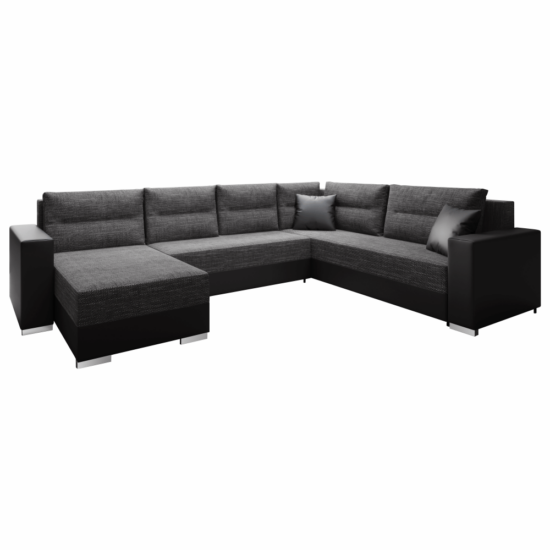 STILA Univerzális ülőgarnitúra,  fekete/fekete melír
