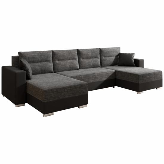 ESSEN Univerzális ülőgarnitúra,  fekete/fekete melír