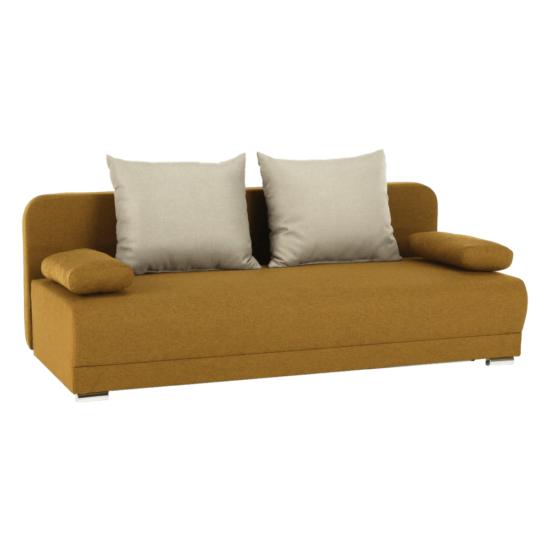 ZACA Széthúzhatós kanapé,  mustár/bézs