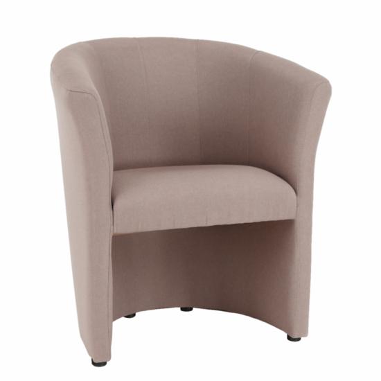 CUBA Fotel,   pasztell rózsaszín anyag