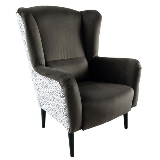 BELEK design füles fotel,  Velvet anyag barna/minta Terra