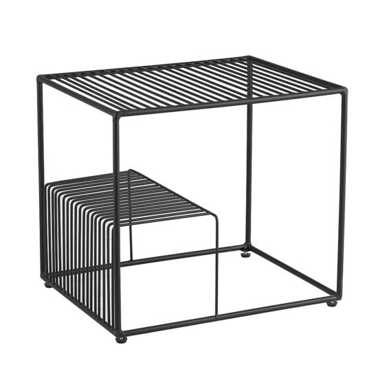 WILOV kisasztal,  fekete/érc