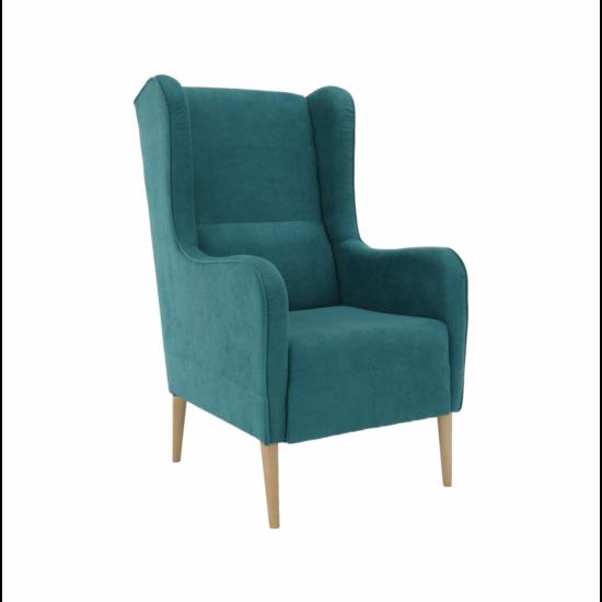 BREDLY Kényelmes fotel,  türkíz/bükk