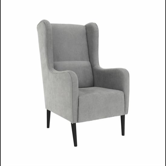 BREDLY Kényelmes fotel,  szürke/fekete