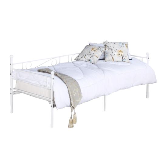 ROZALI Fém kanapé -  fehér (90x200)