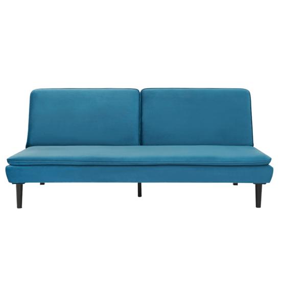 BUFALA kanapé ágyfunkcióval,  kék Velvet anyag