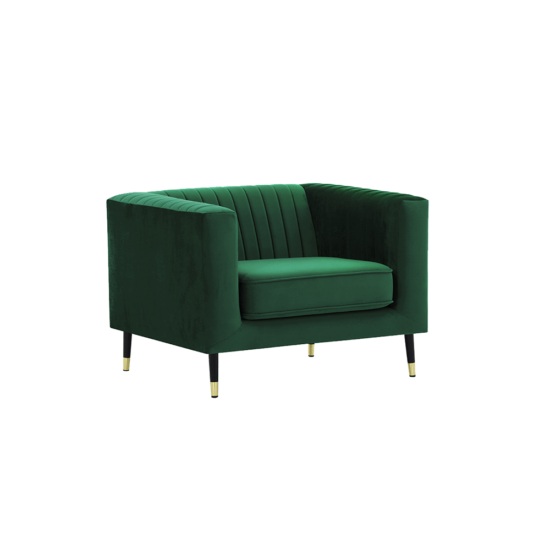 SOMY fotel,  smaragd/fekete/gold sárgaréz arany [1]