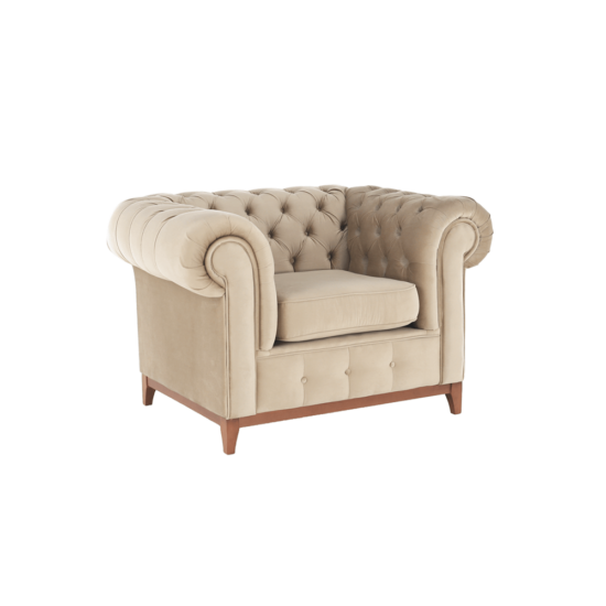 TIFANY Luxus fotel,  világosbarna [1]