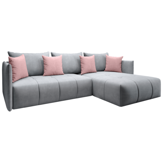 LENY Univerzális ülőgarnitúra,  szürke/rózsaszín [ROH]