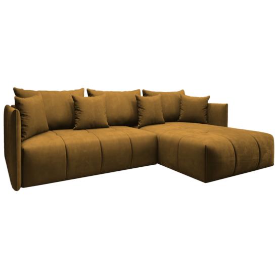LENY Univerzális ülőgarnitúra,  mustár színű [ROH]