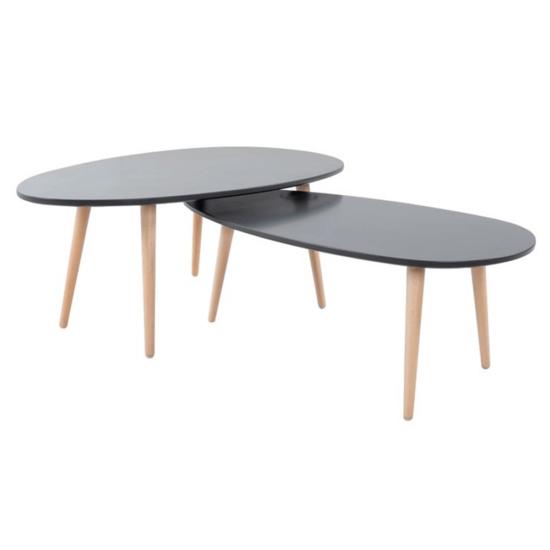 DOBLO Asztal szett,  szürke/szürke