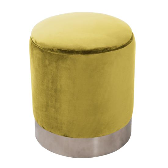 DARON Puff,  arany Velvet anyag/ezüst króm