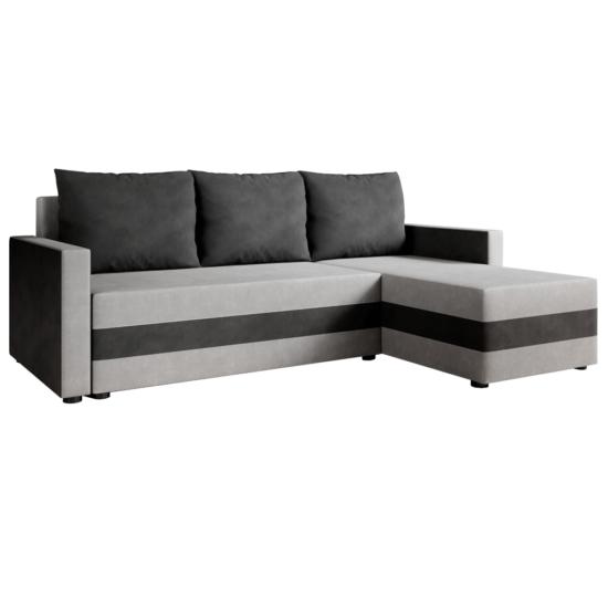 PAULITA Univerzális ülőgarnitúra,  szürke/fekete