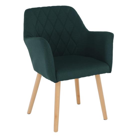 EKIN Fotel,  smaragd színű/bükk
